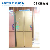 Customized Glass Door Side by Side Refrigerator with Straight Handle