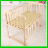 Pine Solid Wood Wooden Baby Cot