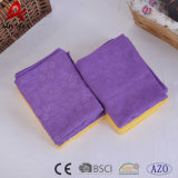 Microfiber Flower Printed Kitchen Table Glasses Cleaning Cloth