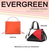 Contrast Color Fashion Designer Women Handbag Soft Leather Lady Tote Bag Wholesale (EMG5348)