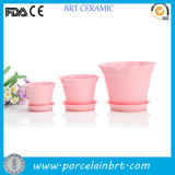 Cheap Pink Large Bulk Clay Garden Pot Wholesale