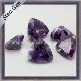 Amethyst Hearts and Arrow Trilliant Cut Synthetic Stone