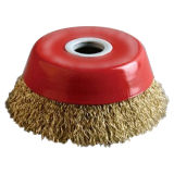 Crimped Bowl Type Stainless Steel Wire Brush (JL-CCWB)