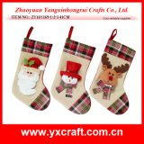 Christmas Decoration (ZY16Y169-1-2-3 41CM) Burlap Christmas Stocking Christmas Supplies