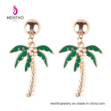 New Arrival Gold Plated Coconut Tree Shape Imitation Jewelry Fashion Earrings