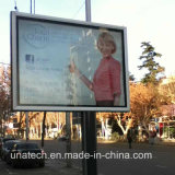 Metal Unipole Support Advertising Media Backlit Film Banner Channel Aluminium Outdoor LED Display Box