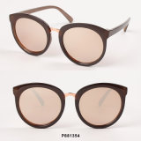 New Fashion Round Sunglasses with Mirrored Lens
