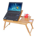 Multi-Functional Bamboo Computer Desk Bamboo Laptop Desk