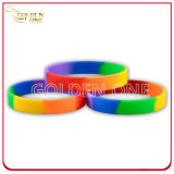 Promotion Gift Custom Segmented Coloring Silicon Wristband