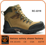 Camel High Ankle Climbing Boots Waterproof Nubuck Leather Hiking Safety Shoes Sc-2218
