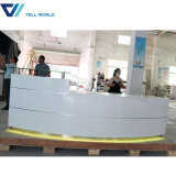 Hotel Furniture LED Light Marble Round Reception Counter