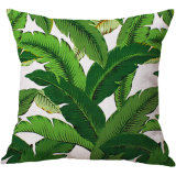 Leaves Cotton Linen Printing Pillowcase Creative Home Cushion Cover Customized