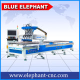 New Wood Carving CNC Router with Rotary, 1325 4 Spindles Pneumatic Tool Changing Woodworking CNC Router