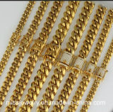 New Heavy 18K Italian Gold Filled Miami Cuban Link Chain
