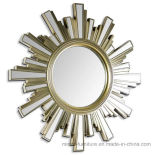 Golden Wholesale Sun Shape Modern Wall Silver Mirror