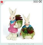 Wholesale Cute Rabbit Resin Garden Succulent Planter