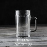 2020 New Item 360ml Glass Cup Glassware High Quality Wholesale Price High White Material Hot Sales Classic Large Beer Glass Mug with Handle (P13376)