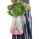 Promotional Price Reusable Grocery Produce Cotton Mesh Ecology Market String Net Shopping Tote Bag