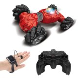 Hand Control Stunt Car Gesture Sensing Twisting off-Road Vehicle Light Music Drift Dancing Side Driving RC Toy for Kids