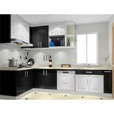Good Price Apartment Hotel Project Use Modular Modern Wooden Melamine Laminate Kitchen Cabinets