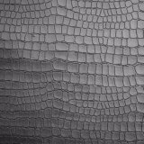 Crocodile Skin Pattern Grain Embossed Synthetic PU Leather for Shoe