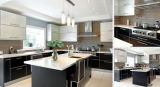 Welbom White and Black Melamine Kitchen Cabinet Designs
