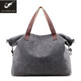 Wholesale Large Capacity Fashion Waterproof Girls Canvas Tote Handbag