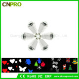 Wholesale E27 4W LED Stage Laser Lighting Effect Auto Rotating Flake Bulb