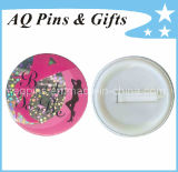Party Buttons Tin Plate Badge with Plastic Backside (Button badge-08)