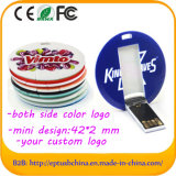 Round Shaped Mini Credit Card USB Flash Drive with Full Color Logo