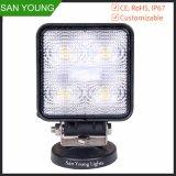 15W LED Work Light 4 Inch 12V 24volt DC for Trucks Cheapest Price
