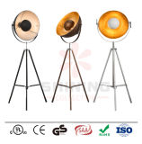 Trip Rod Floor Lamp, Half Round Metal Shade,