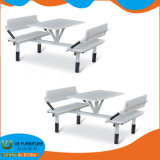 Canteen Restaurant Furniture Folding Dining Table with Metal Frame