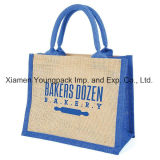 Fashion Promotional Gifts Custom Printed Burlap Handbag Hessian Wine Bag Conference Bag Reusable Grocery Shopper Carrier Bag Shopping Carry Tote Jute Bags