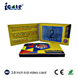2.8 Inch LCD Screen Business Card with 320*240 Resolution
