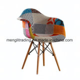 EMS Style Armchair Natural Wood Legs in Color White Black and Red