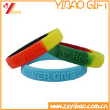 Wholesale 1 Inch Custom Logo Silicone Segmented Wristbands (YB-AB-010)