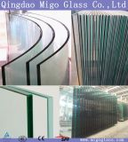 Flat/ Curved Decorative Toughened Tempered Glass for Building, Furniture, Shower Door