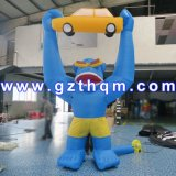 Decorative Inflatable Monkey Character/Inflatable Lifelike Animal Monkey Toy for Children
