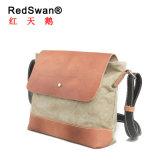 Leather Canvas Fashion Designer Cheap Wholesale School Bag (RS-6010)
