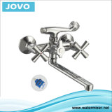 "Double ""+"" Handle Bath-Shower Mixer with Finished Chrome Jv 74404"