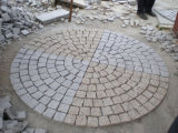 Fan Mesh Paver Driveway Natural Stones for Cubestone