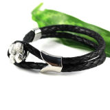 2017 Fashion Jewelry Leather Stainless Steel Bracelet
