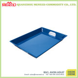 Wholesale High Quality Vibrant Blue Color Large Melamine Serving Tray