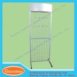 Wholesale Metal Floor Standing Wire Mesh Hanging Display Racks