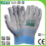 13G Cut Resistant Anti Vibrasion Hppe Glass Fiber Knitted Safety Work Glove (CE Cut Level 5)