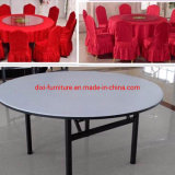 Used Cheap Fancy White Plywood Wooden Modern Dinner Banquet Round Dining Table
