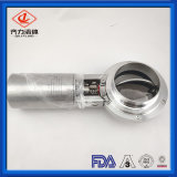 304/316L Sanitary Stainless Steel Pneumatic Butterfly Valve