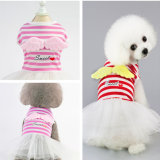 Supply Pauppy Angel Red Strip Dress Dog T-Shirt Pet Clothes Apparel Product