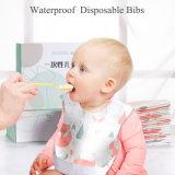 Waterproof Disposable Baby Bibs, Infant and Kids Nonwoven Feeding Bibs